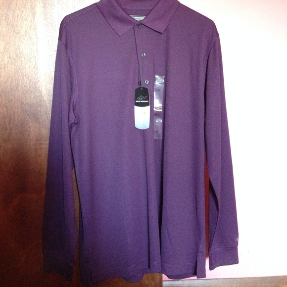 COPY - GREG NORMAN PLAY DRY LONG SLEEVE GOLF SHIR…